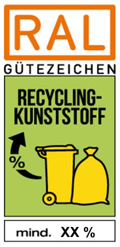 """RAL Gütezeichen """"Rezyklate aus haushaltsnahen Wertstoffsammlungen"""""""