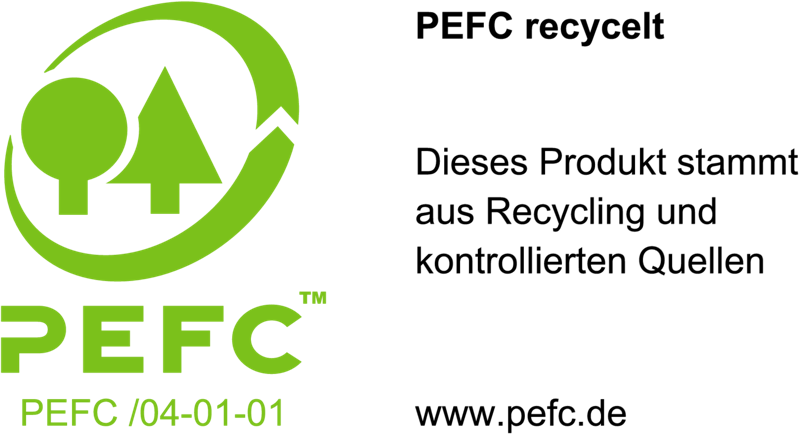Programm for the Endorsement of Forest Certification (PEFC) - Recycelt