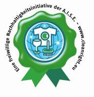 Nachhaltigkeitsinitiative der A.I.S.E. – Siegel mit grünem Kranz